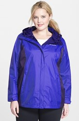 Plus Size Women's Columbia 'Arcadia' Hooded Waterproof Rain Jacket Light Grape