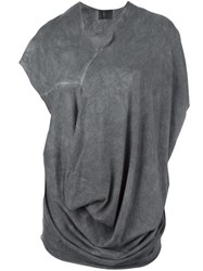 Lost And Found Ria Dunn Draped T Shirt Black