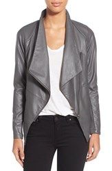 Women's Bb Dakota 'Murphy' Faux Leather Asymmetrical Jacket