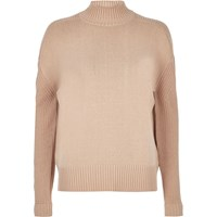 River Island Womens Beige Long Sleeve Turtle Neck Top