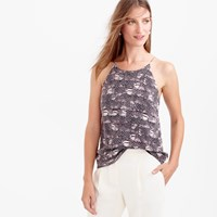 J.Crew Silk Cami In Feather Print