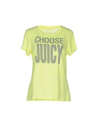 Juicy Couture Topwear T Shirts Women Light Yellow