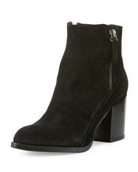 Alberto Fermani Rea Side Zip Ankle Boot Nero