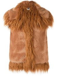 Stella Mccartney Faux Fur Gilet Brown
