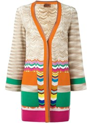 Missoni V Neck Cardigan Nude And Neutrals