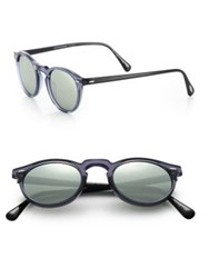 Oliver Peoples 47Mm Round Sunglasses Blue