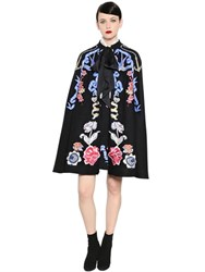 Temperley London Tattoos Embroidered Wool Cape