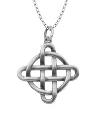 Lord And Taylor Sterling Silver Celtic Knot Pendant Necklace