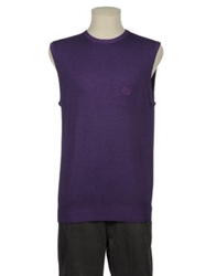 New England Sweater Vests Purple