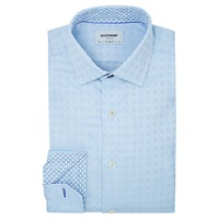 Duchamp Optic Square Tailored Fit Shirt Blue