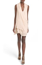 Women's Astr 'Lisa' Drape Tunic Dress Warm Cream