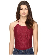 Free People Dance Around Bodysuit Wine Women's Jumpsuit And Rompers One Piece Burgundy