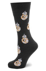 Cufflinks Inc. Men's Cufflinks Inc 'Bb 8' Socks Grey