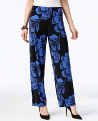 Alfani Petite Printed Wide Leg Pull On Pants Only At Macy's New Luxe Floral