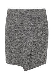 Etoile Isabel Marant Estelle Grey Melange Ribbed Wool Mini Skirt