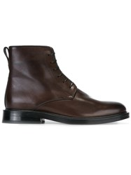 Paul Smith Lace Up Boots Brown