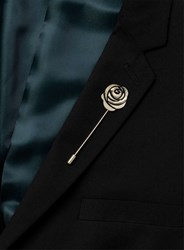 Topman Antique Gold Look Rose Lapel Pin