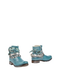 Khrio' Ankle Boots Turquoise