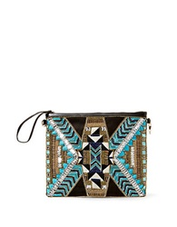 Big Buddha Kaylegh Beaded Clutch Turquoise