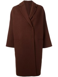 Brunello Cucinelli Loose Fit Mid Coat Brown