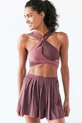 Without Walls Deco Pleated Tennis Skirt Maroon