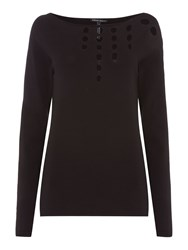 Sarah Pacini Long Fitted Sweater Black