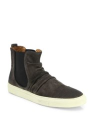 John Varvatos Reed Sharpei Chelsea Sneaker Dark Charcoal