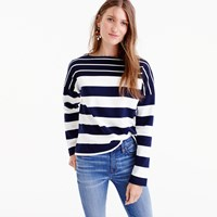 J.Crew Stripe Blocked Boatneck T Shirt