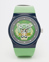 Kenzo Tiger Silicone Strap Watch Green