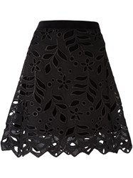 See By Chloe Floral Embroidered Skirt Black