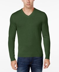 Club Room Men's Merino Wool V Neck Sweater Only At Macy's Isle Of Pines