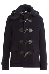 Burberry London Wool Duffle Coat Blue