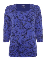 Tigi Petal All Over Print Top Blue