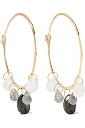 Melissa Joy Manning 14 Karat Gold Multi Stone Earrings