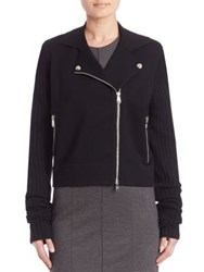 Sonia Rykiel Moto Sweater Jacket Black