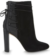 Aldo Taessa Suede And Synthetic Ankle Boots Black Suede
