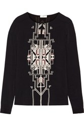 Day Birger Et Mikkelsen Embroidered Crepe Top Black