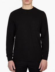 Saturdays Surf Nyc Black Textured Cotton Sweatshirt