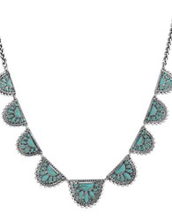Lucky Brand Turquoise Natives Tribal Collar Necklace