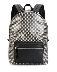 Mini Skull Printed Backpack Black Alexander Mcqueen