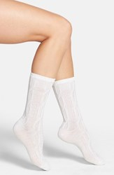Nordstrom Women's 'Luxury' Cable Knit Crew Socks
