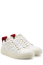 Balmain Quilted Leather Sneakers White