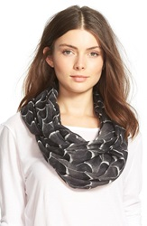 Halogen 'Feather Fall' Infinity Scarf Grey Combo