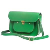 N'damus London Emerald 11 Inches Mini Pocket Satchel Green