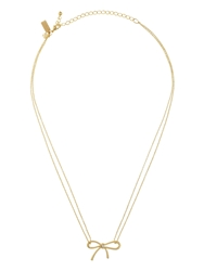 Kate Spade Dainty Sparklers Bow Pendant Clear