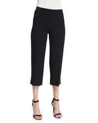 Elie Tahari Alba Slim Leg Cropped Pants Black Women's