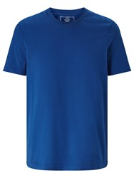 John Lewis Jersey Cotton Crew Neck T Shirt Blue