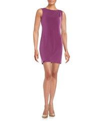 Jessica Simpson Embellished Drape Front Dress Deep Purple