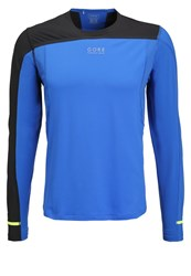 Gore Running Wear Fusion Long Sleeved Top Brilliant Blue Black