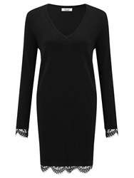 Alice By Temperley Somerset Lace Knit Dress Black
